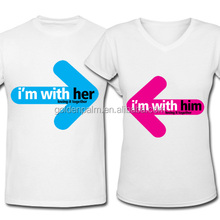 Wholesale Custom Made Funny Couple Short Sleeve T-shirt