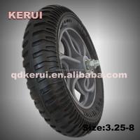 rubber wheels trolley wheel 3.25-8 with plastic hub