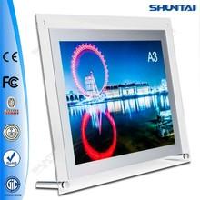 foto di cristallo pubblicità ultimo basamento acrilico a4 light box