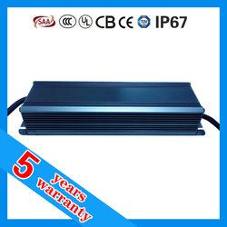 5 years warranty waterproof IP67 90W LED power supply with high PFC
