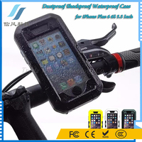 Bicycle Motorcycle Mount Holder TPU Silicone Dustproof Shockproof Water Proof Case for iPhone 6 6S 6 Plus 5.5 Inch