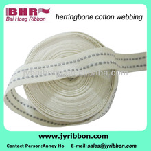 Competely new 100% cotton webbing jacquard 100% cotton webbing