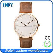 5ATM water resistant custom stainless steel watch for DW design style with miyota OR21 movement