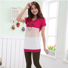 summer hot selling popular wholesale online big stripe maternity t-shirt