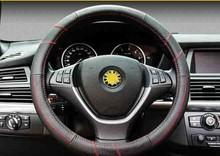 Guangzhou 2015 New Fashion Handmake microfiber pu leather car steering wheel cover