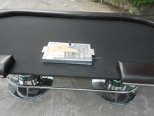 Stainless steel feet oval style poker table