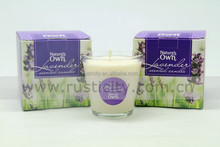 Cotton wick long burning time soy wax candle wholesale China