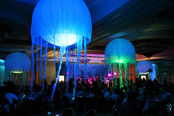 2015 hot sale attactive LED inflatable jellyfish