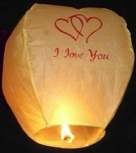 Chinese Sky latern,Romantic Love Sky Lantern with Fuel Paper, Kongming Lamp For Wedding Party Balloons & Lights