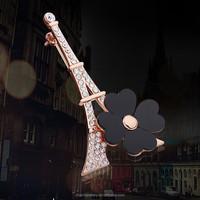 2015 New Fashion Rhinestone Brooch Pins Scarf Buckle,Paris Eiffel Towel Crystal Brooch Bouquet Breastpin XZ019