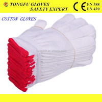 7/10 gauge white knitted cotton gloves manufacturer in china/warm cotton gloves For Construtions Bulk From China en388
