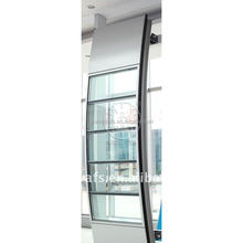 High quality powder coated anodize mill finish aluminum extrusion window and door curtain wall
