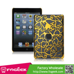 for iPad Mini Heat Dissipation Hollow Out Heart Shape Hard Back Protector Case