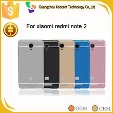 Aluminum metal bumper frame phone cover case for xiaomi hongmi redmi note 2