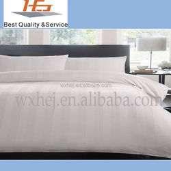 1cm stripe white cotton fabric for fduvet cover