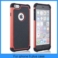 """For Apple iPhone 6 5.5"""" Colorful Rubberized Hybrid Dual Layer Case Cover Skin"""
