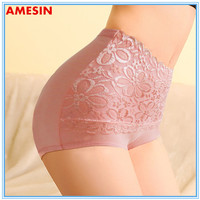 2015 New Combed Cotton High Waist Lace Panties For Women
