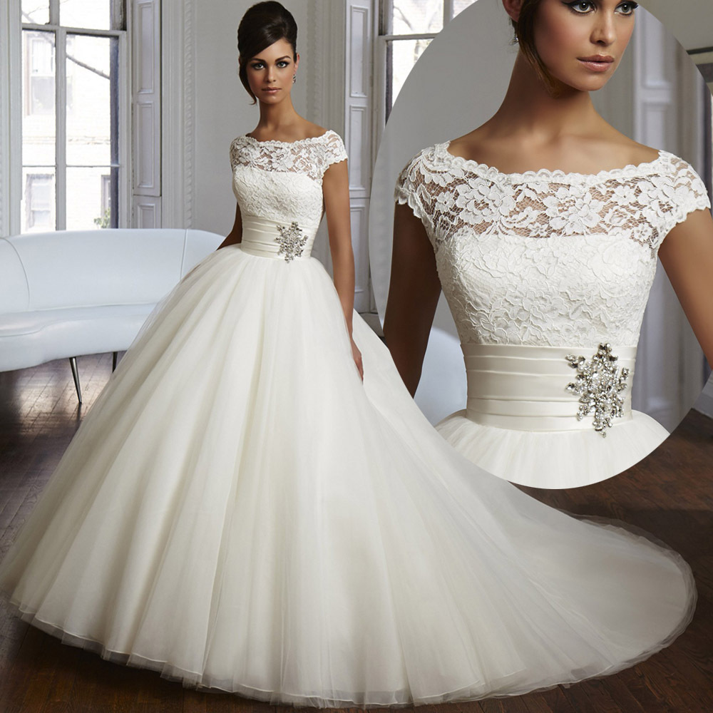 Wholesale 2015 Couture Ball Gown Elegant Wedding Dress Lace Tulle Plus ...