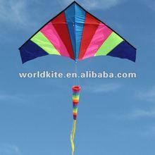 2012 Hot Style Rainbow single line Delta Kite with LED