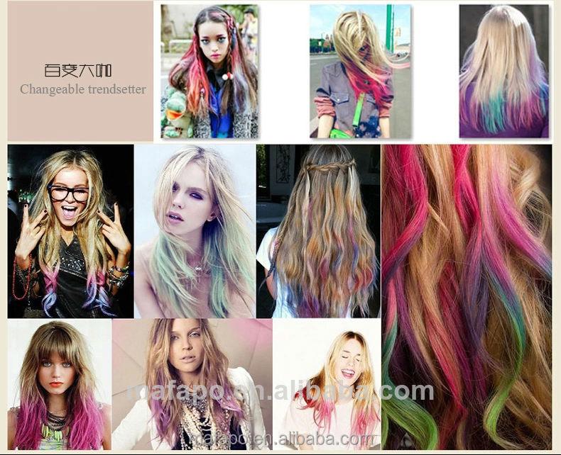 White Pink Orange Blue Hair Dye Spray Temporary Hair Dye