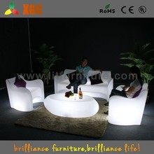 New design led sofa chair with RGB 16 colors, illuminated led sofa, plastic led sofa
