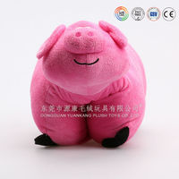 inflatable soft plush pig animal pillow toys for kids