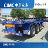 CIMC 3 Axle Chassis Container Truck Trailer, 40ft Chassis Container Carrier Trailer, Tri Axle Skeleton Container Semitrailer