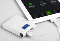 2.1A fast charging output,10400MAH portable LED Power Bank w/flashlight,CE ROHS FCC MSDS UN38.3 AVAILABLE