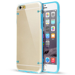 """China Supplier For iPhone 6 Case 4.7"""" Slim Transparent Clear Hard TPU Back Cover With Flashing"""