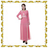 MF22458 Free sample long sleeves arabic popular crystal islamic dress