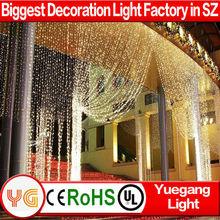 high quality chrismas led light star stage curtain Xmas star drop curtain light