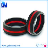 Custom mens expandable silicone wedding ring