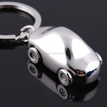 Wholesale metal 3D car key chains /Promotional keychains metal 3d car shape key rings