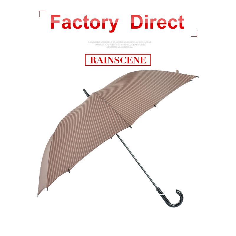 フルグラスファイバーリブフレンチ市場ロゴプリント防水素材傘生地防風ゴルフ自動傘