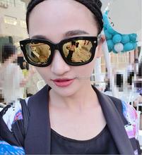 2015 new style rivet Color film sunglasses Thin face box bright sunglasses, celebrity sunglasses