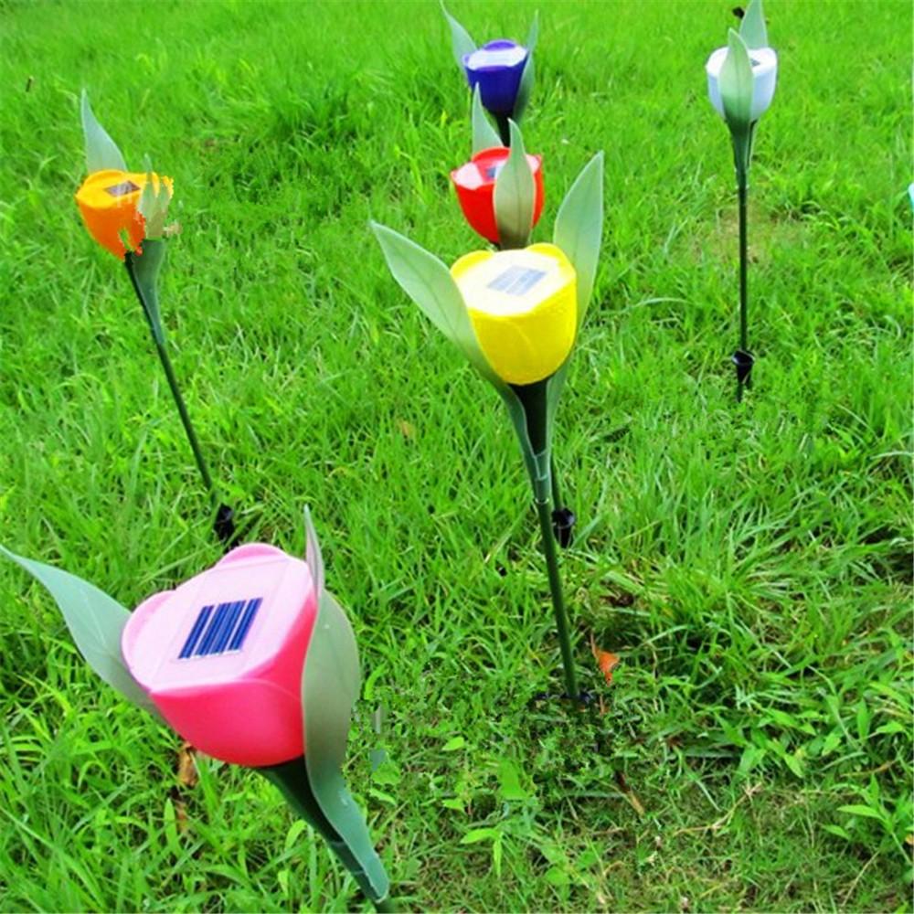 Wholesale Wholesale Tulip Design Solar LED Landscape