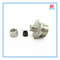 Nantong Roke ss316 forged male thread tube reducer pipe fittings