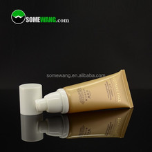 customized amber/gold plastic airless tube cosmetic ,very good quality