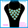 Wholesale fashion natural turquoise necklace statement necklaces for women