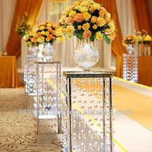 lighted wedding decorative square wedding columns/indian wedding pillars for sale
