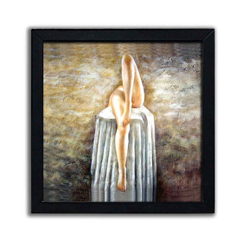 Encargo hermoso de chicas desnudas vintage placa de madera-Pintura y ...