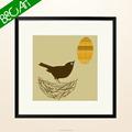 黒い鳥の生き生きとして有名な動物の油絵静物