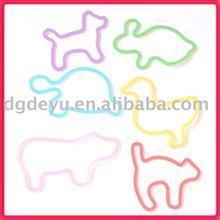 Animal shapes silicone bandz