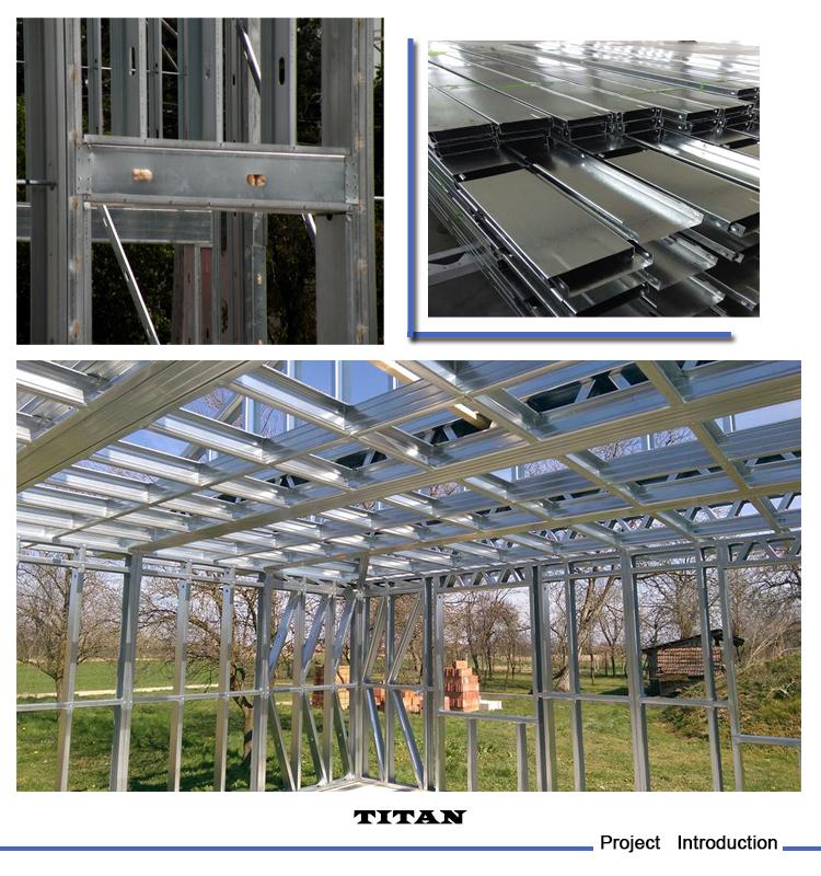 Modern architecture light steel house designs for indian for Modern design building services ltd