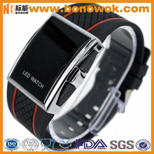Fashion sport watch silicone led watch for men