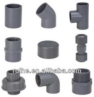 DIN,JIS,BS,ASTM,ISO standard pvc pipe fitting grey
