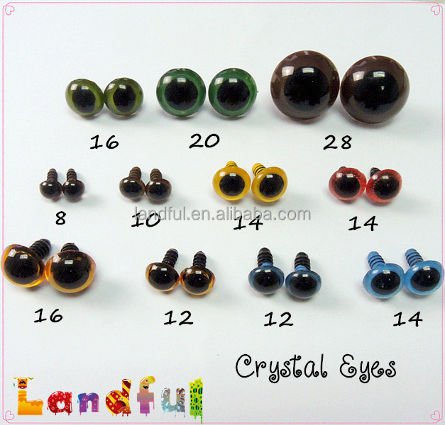 Amigurumi Eyes Michaels : 12mm Colored Amigurumi Eyes Plastic Puppet Eyes in Black ...