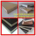 Linyi filme folha de madeira compensada enfrentada com CE & FSC / folha de compensado barato / choupo núcleo filme enfrentou a m