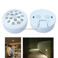 Circular 15LED sensor night light with hook and magnets for cabinet