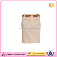 2016 Fashion OEM Sexy Bodycon Business Casual Solid Color Straight Pencil Skirt